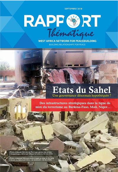 Fr : G23: WANEP-BURKINA FASO: Rapport thématique sur terrorisme et gouvernance et le Rapport hebdomadaire sur la sécurité humaine au Burkina Faso de la semaine du 16 au 22 Septembre 2018