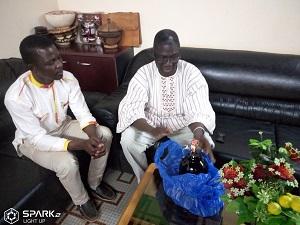 Nouvel an 2019: Le Directeur du Centre Diocésain de Communication Notre Dame du Sahel rend visite aux autorités administratives, coutumières et religieuses de la ville de Ouahigouya.